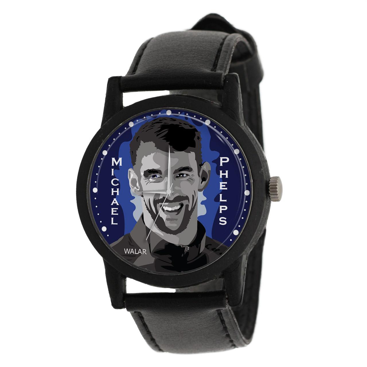 کد تخفیف                                      ساعت مچی عقربه ای مردانه والار طرح مایکل فلپس کد LF2080