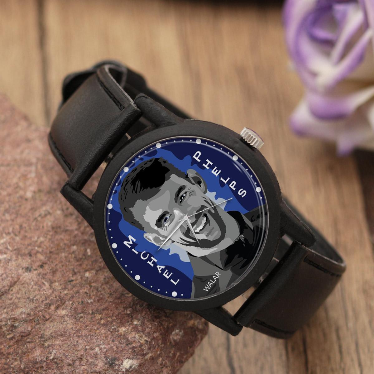 ساعت مچی عقربه ای مردانه والار طرح مایکل فلپس کد LF2080
