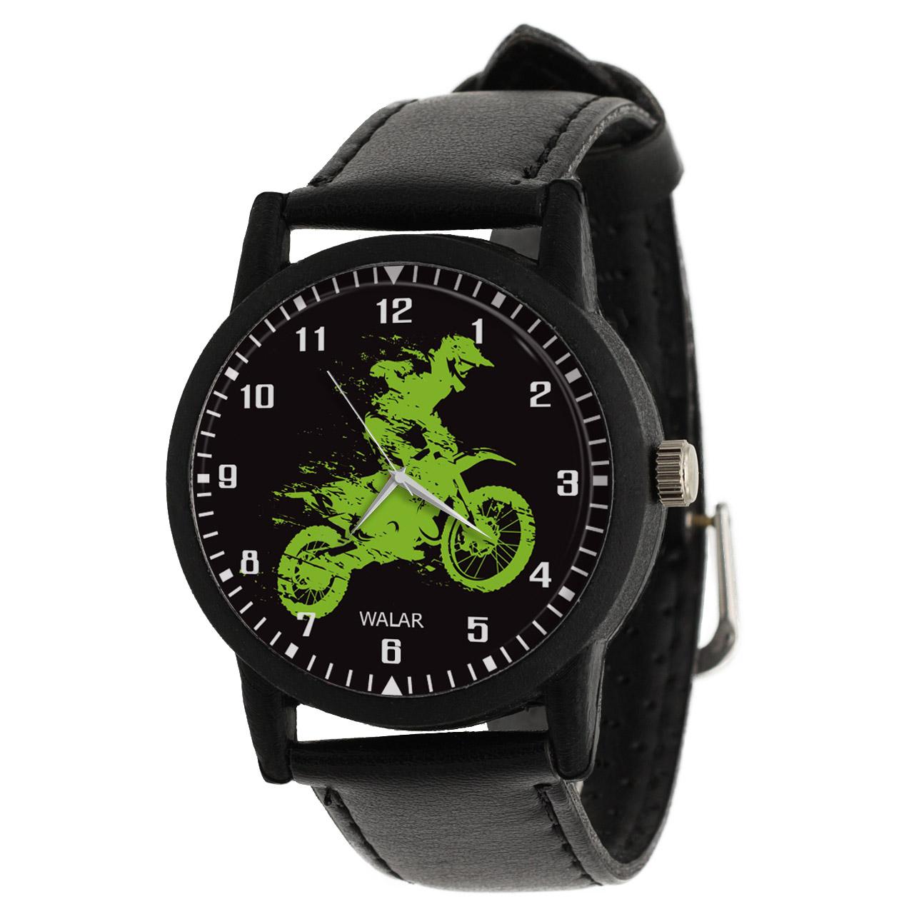 کد تخفیف                                      ساعت مچی عقربه ای والار طرح موتورسواری کد LF2085