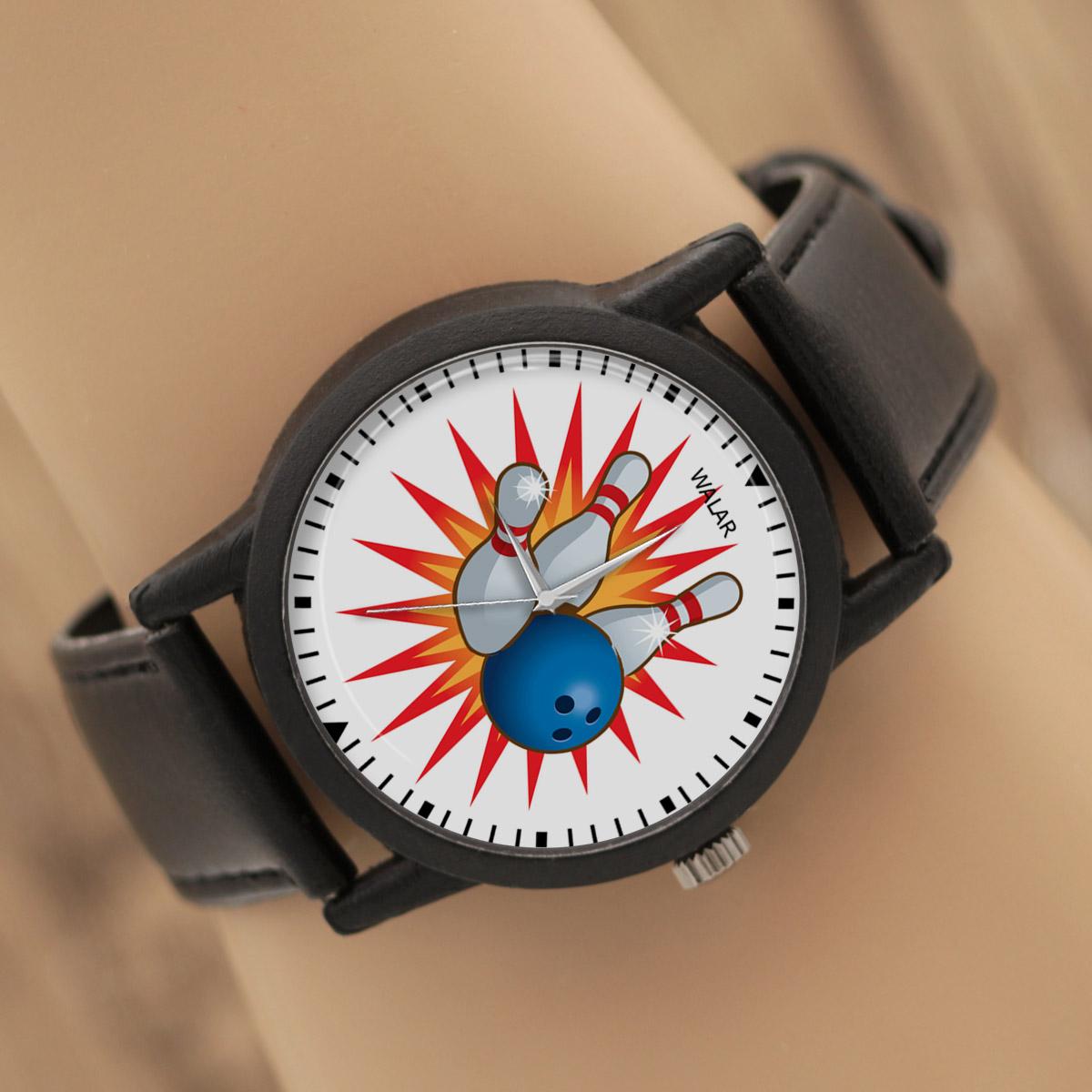 ساعت مچی عقربه ای والار طرح بولینگ کد LF2096
