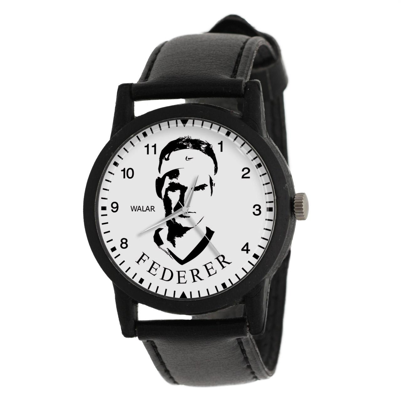 کد تخفیف                                      ساعت مچی عقربه ای والار طرح راجر فدرر کد LF2100