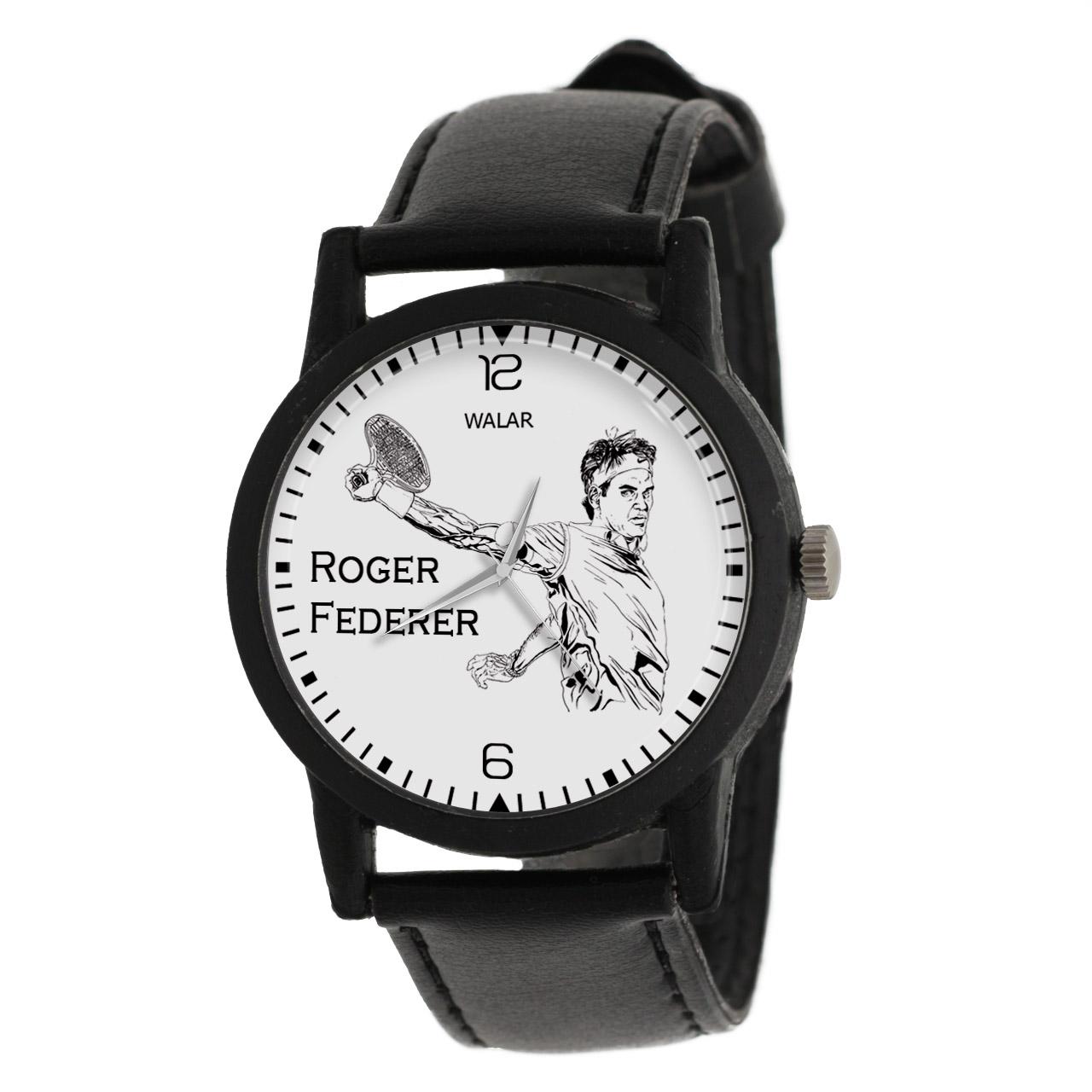 کد تخفیف                                      ساعت مچی عقربه ای والار طرح راجر فدرر کد LF2102