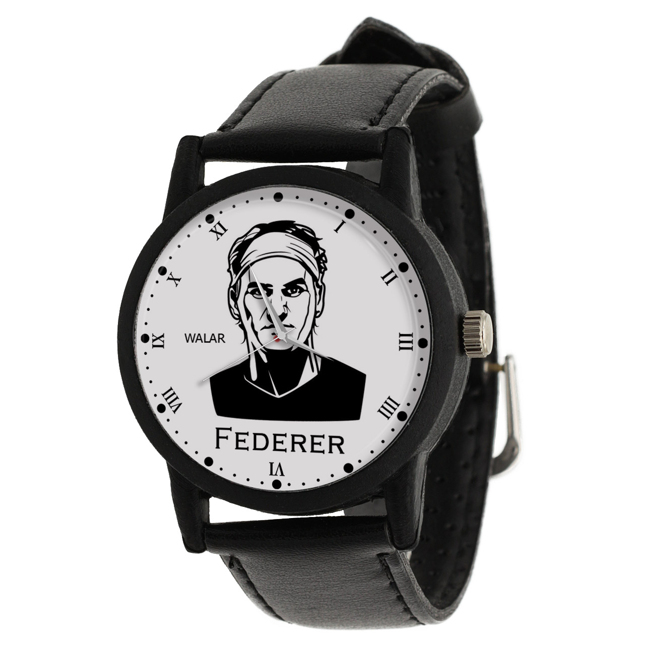 کد تخفیف                                      ساعت مچی عقربه ای والار طرح راجر فدرر کد LF2103