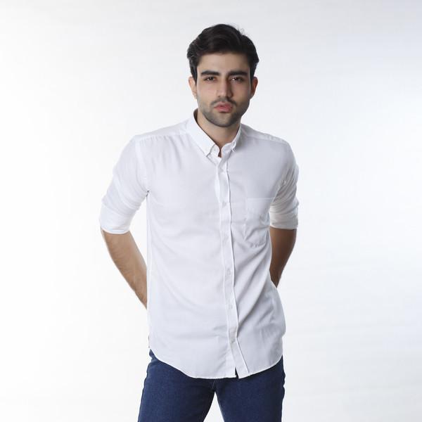 پیراهن آستین بلند مردانه زی سا مدل 153140501