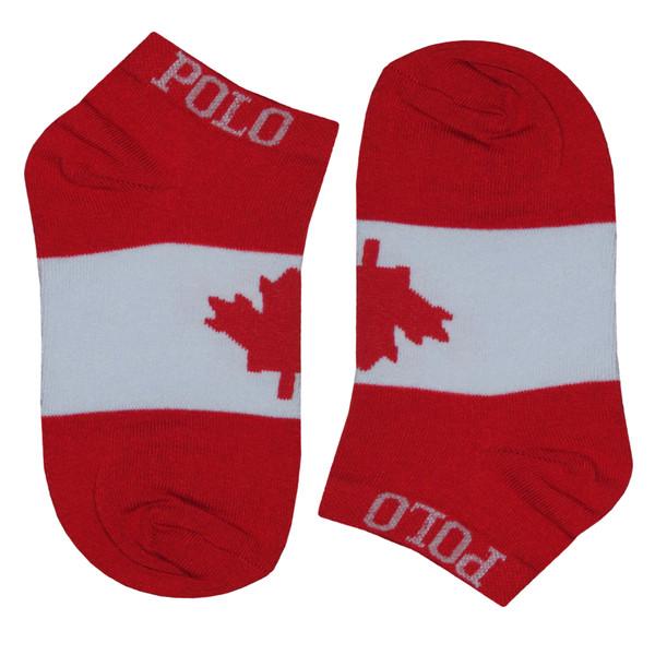 جوراب مردانه طرح پرچم کانادا کد 143