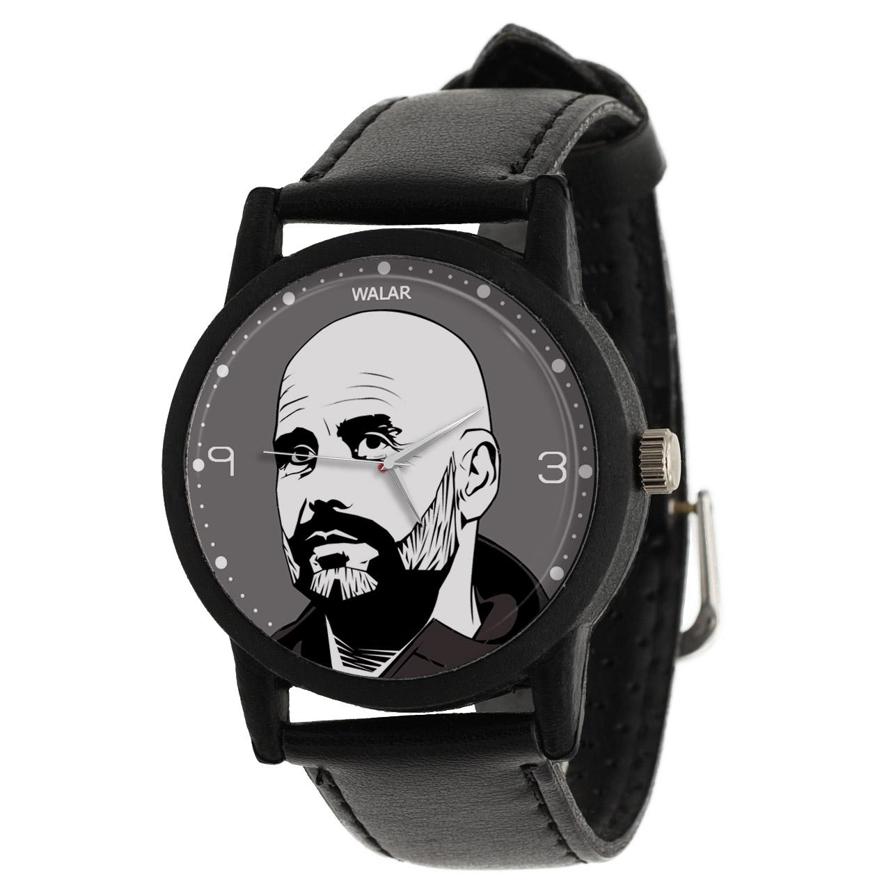 کد تخفیف                                      ساعت مچی عقربه ای مردانه والار طرح گواردیولا کد LF2126