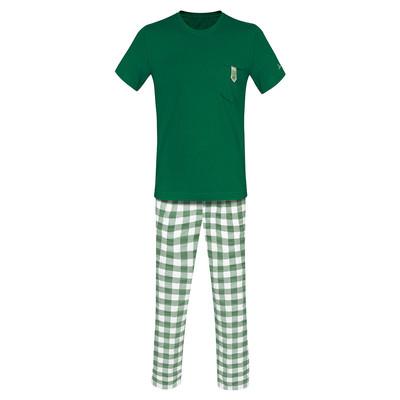 تصویر ست تی شرت و شلوار مردانه ساروک مدل STSHNJ110 -06 رنگ سبز یشمی