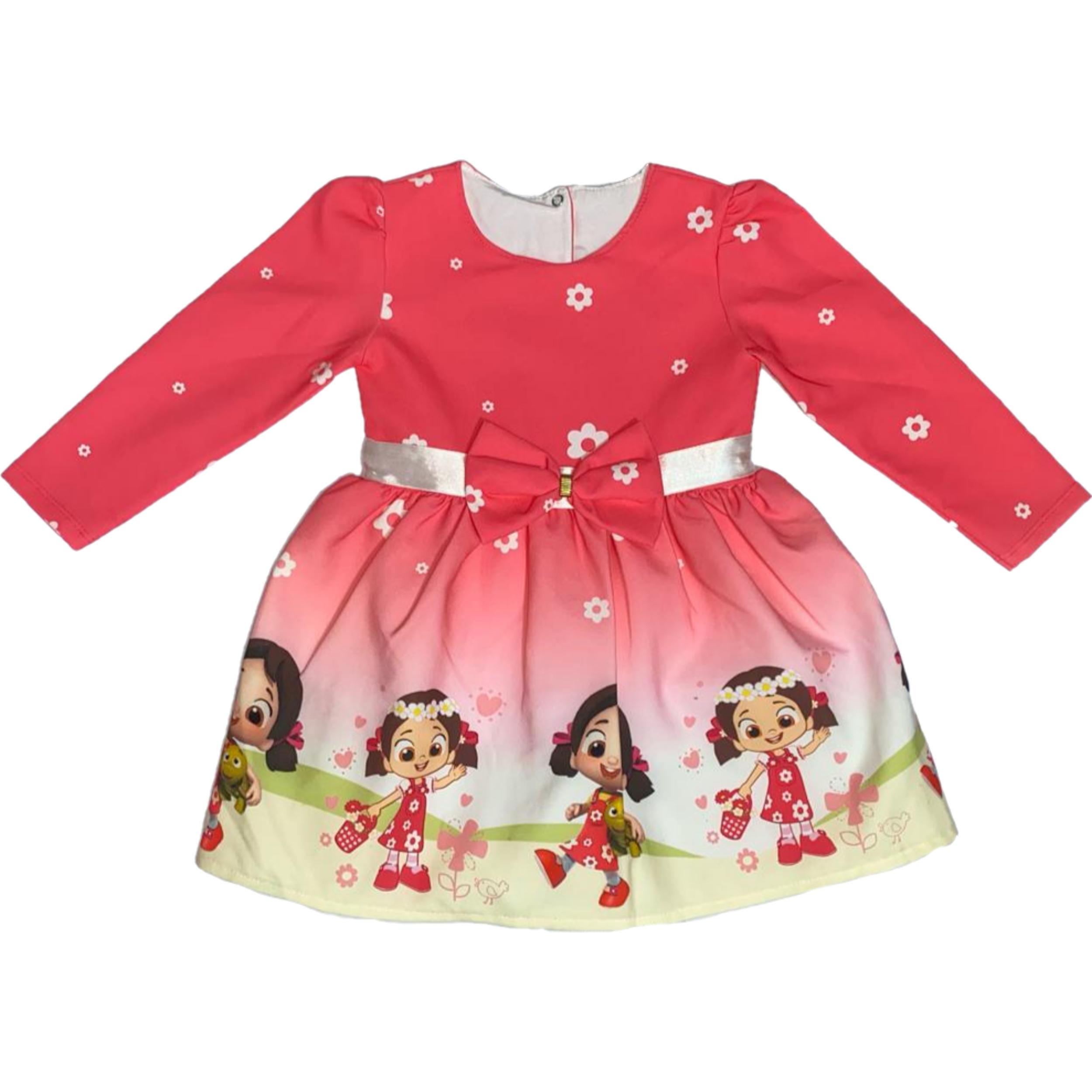 پیراهن دخترانه طرح عروسکی کد ۴۱