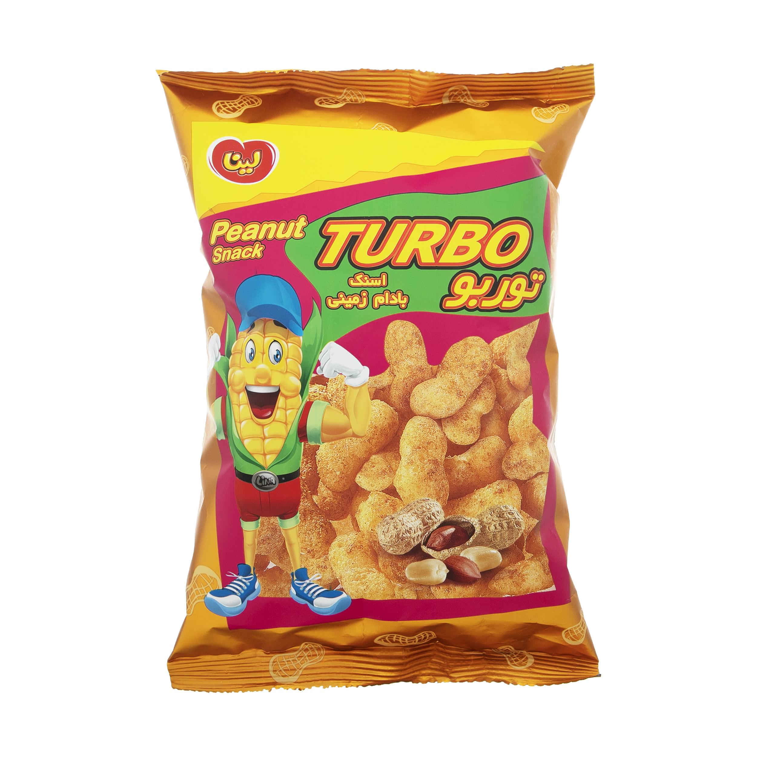 اسنک توربو لینا با طعم بادام زمینی - 50 گرم