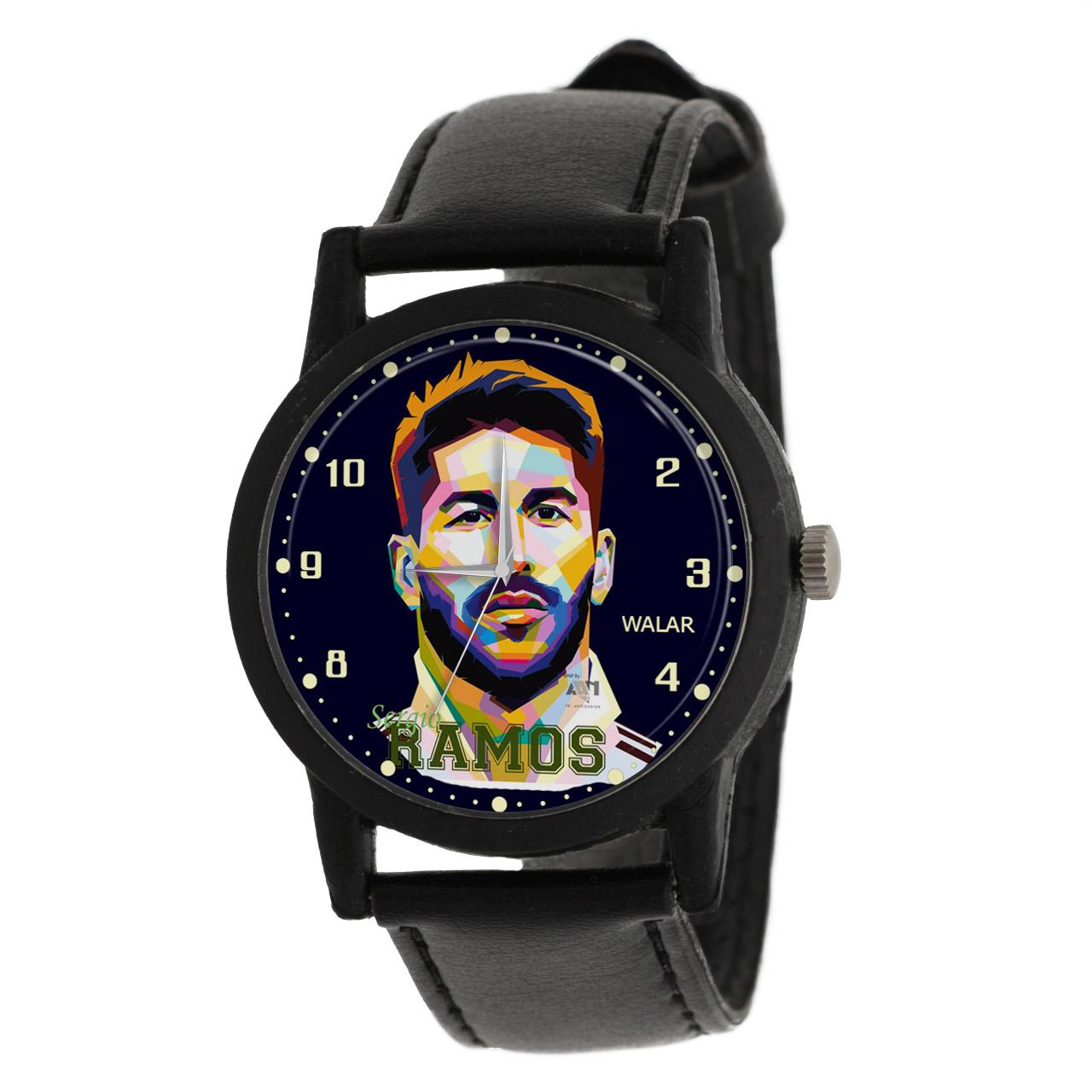 ساعت مچی عقربه ای مردانه والار طرح سرخیو راموس کد LF2151