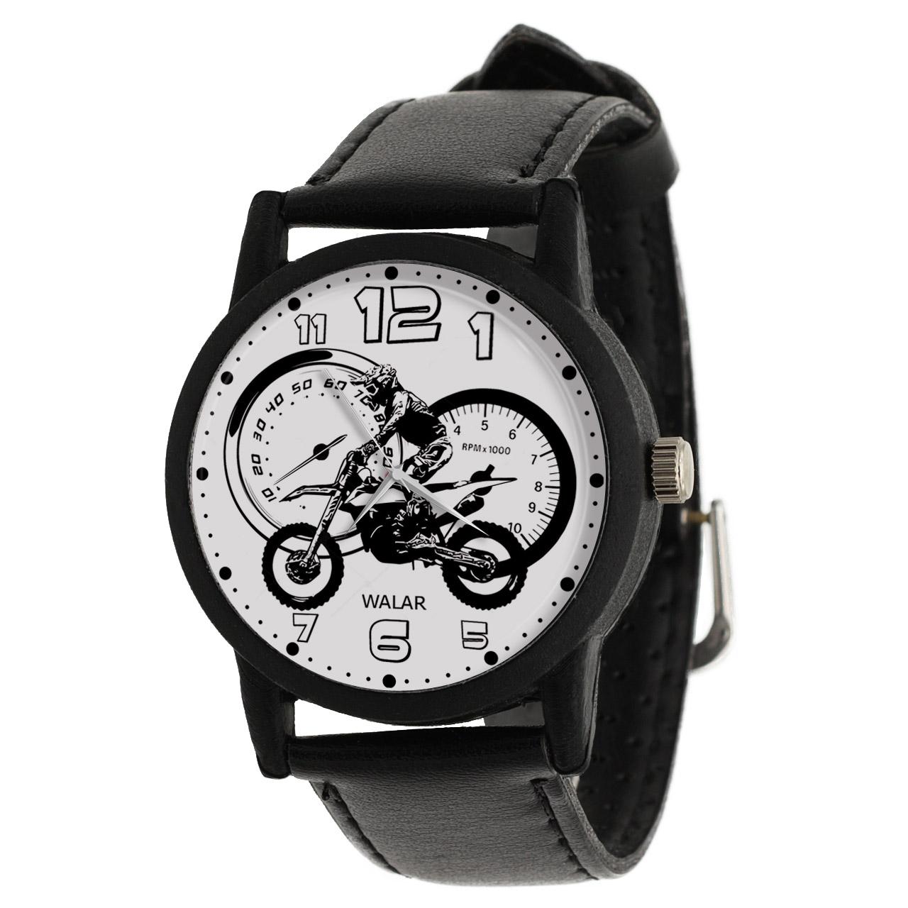 کد تخفیف                                      ساعت مچی عقربه ای مردانه والار طرح موتورسواری کد LF2152