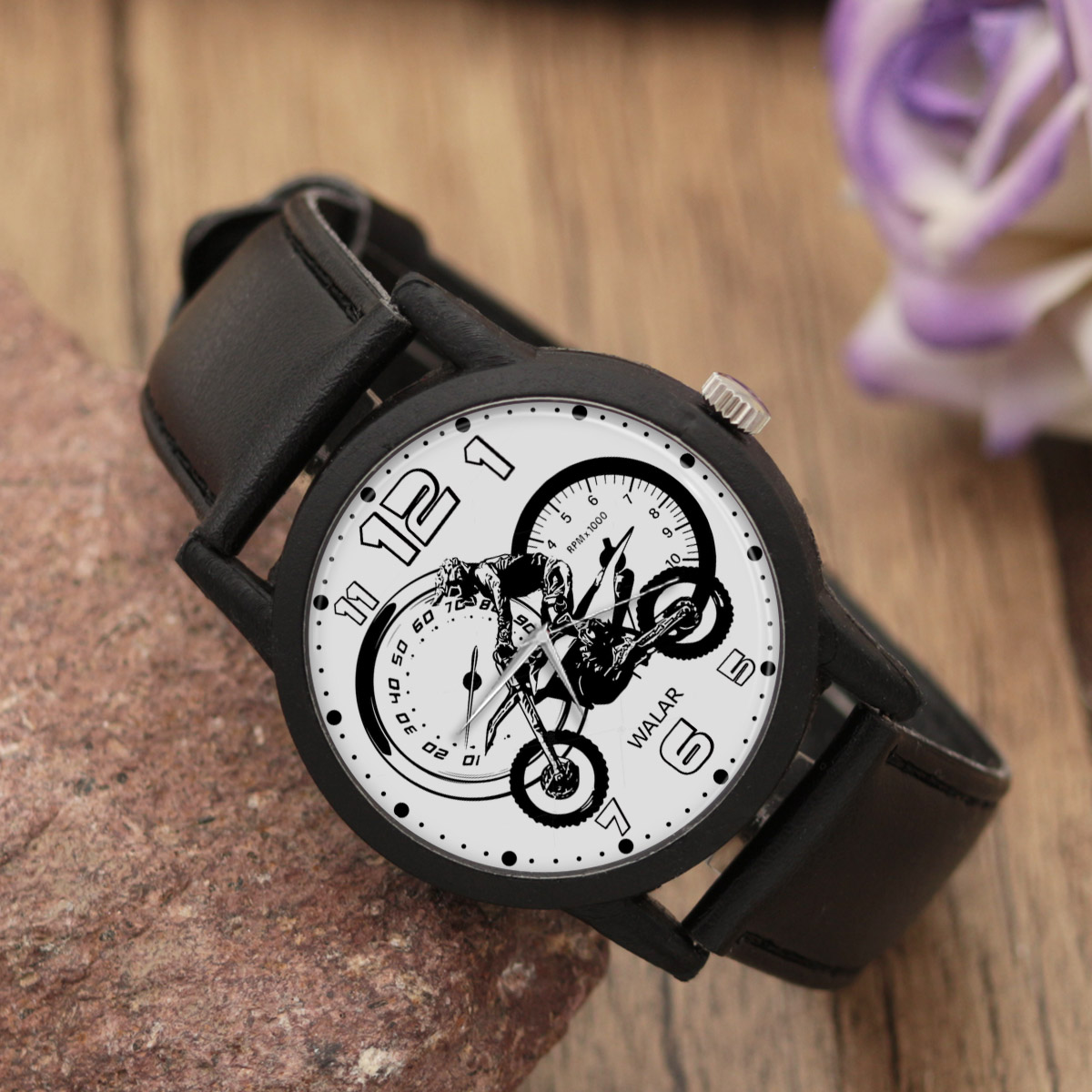 ساعت مچی  مردانه والار طرح موتورسواری کد LF2152              اصل