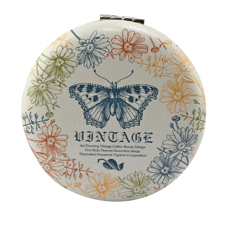آینه جیبی طرح پروانه کد 1012.3