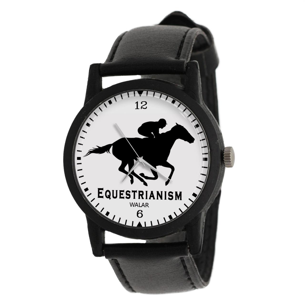کد تخفیف                                      ساعت مچی عقربه ای والار طرح اسب سواری کد LF2163