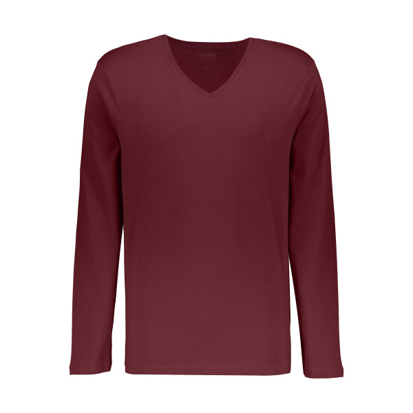 تی شرت مردانه او وی اس مدل 000164025-BROWN