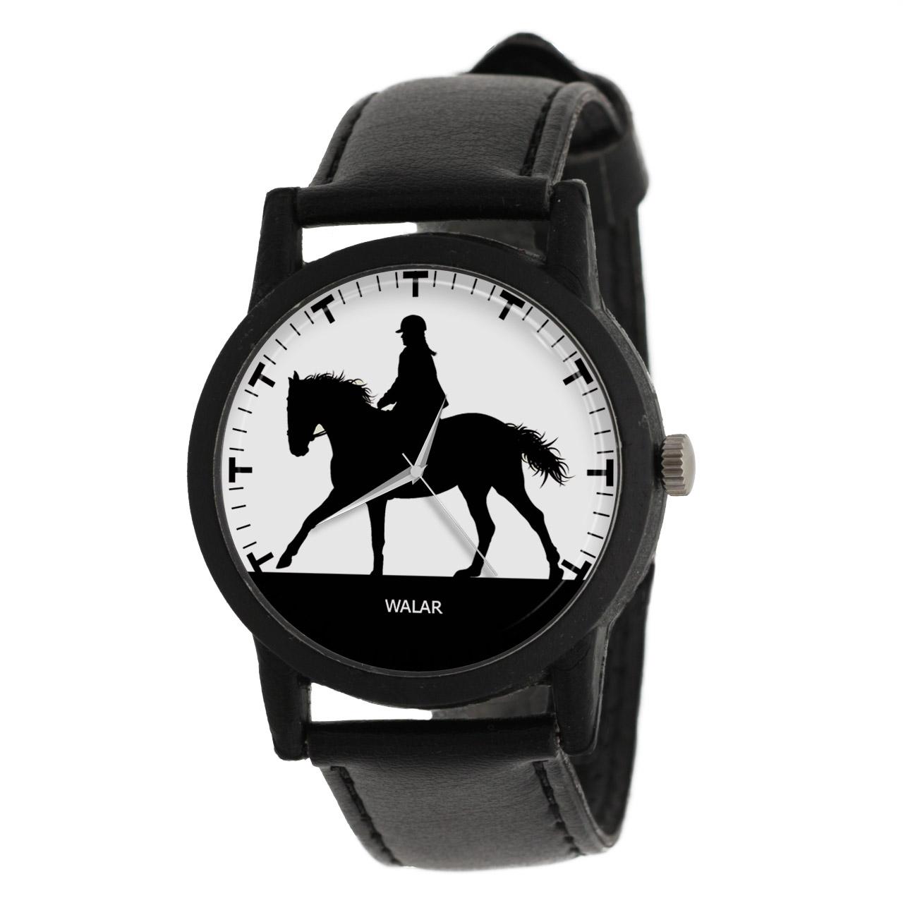 کد تخفیف                                      ساعت مچی عقربه ای والار طرح اسب سواری کد LF2174