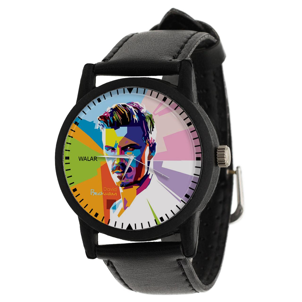 کد تخفیف                                      ساعت مچی عقربه ای مردانه والار طرح دیوید بکهام کد LF2182