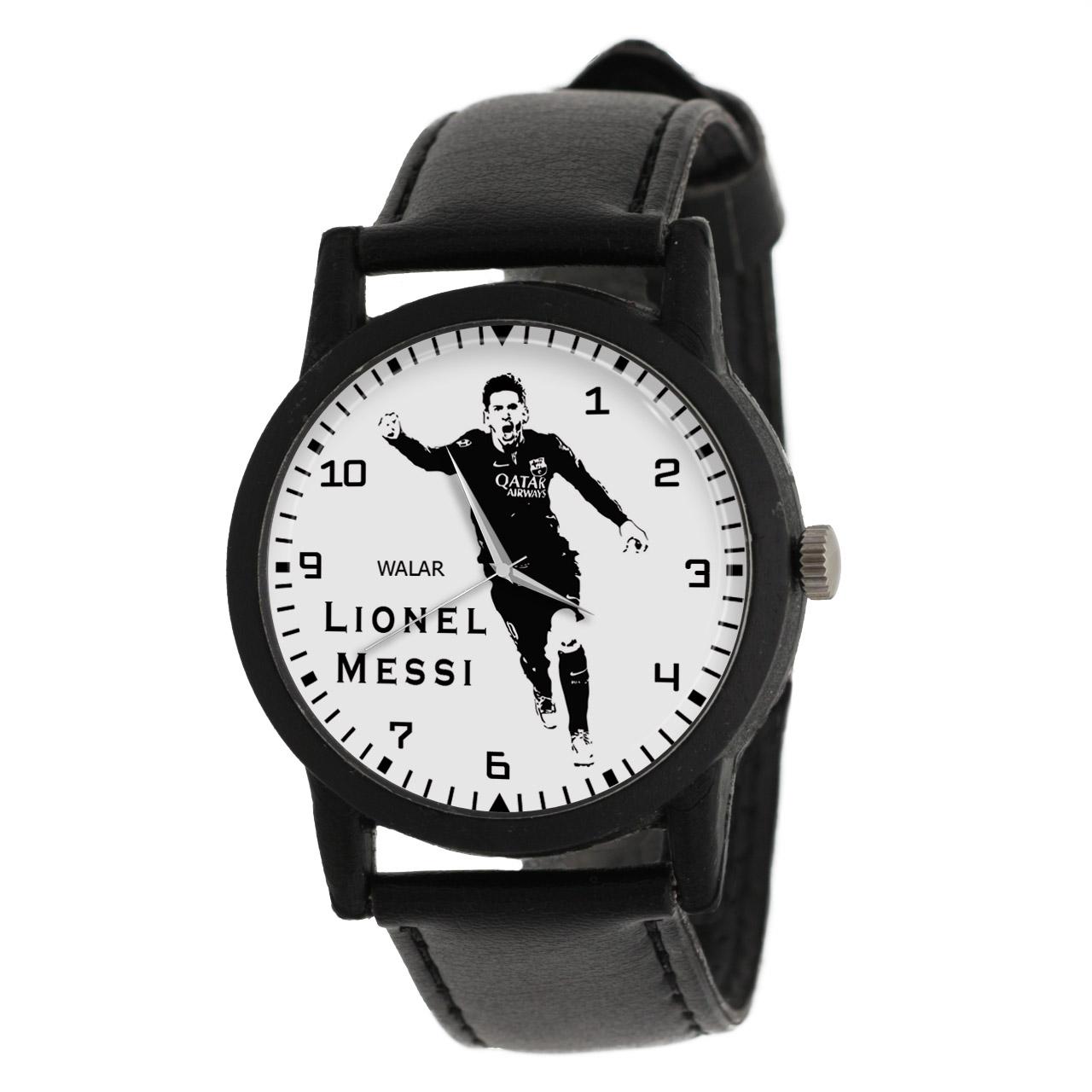 کد تخفیف                                      ساعت مچی عقربه ای مردانه والار طرح لیونل مسی کد LF2183