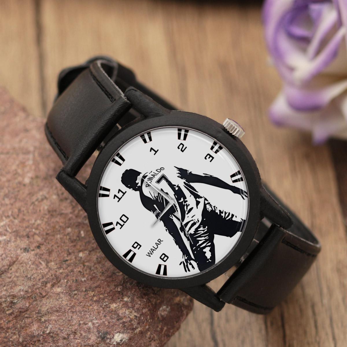 کد تخفیف                                      ساعت مچی عقربه ای والار طرح کریستیانو رونالدو کد LF2188