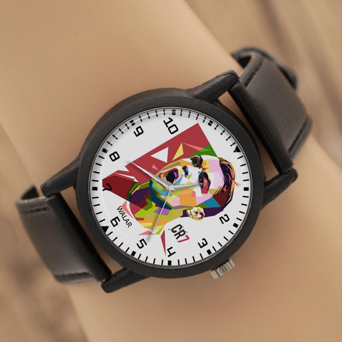 کد تخفیف                                      ساعت مچی عقربه ای والار طرح کریستیانو رونالدو کد LF2191