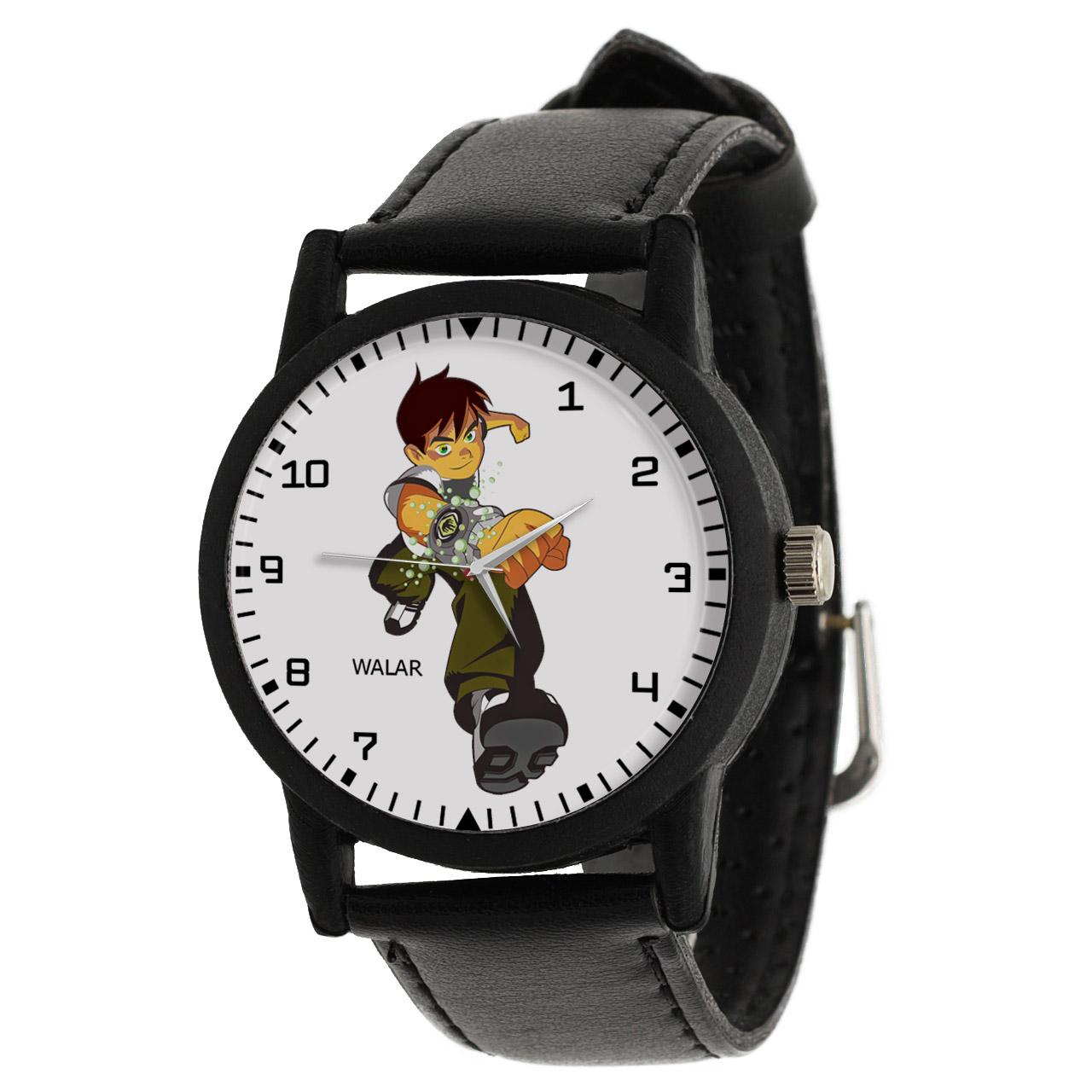 کد تخفیف                                      ساعت مچی عقربه ای والار طرح بن تن کد LF2194