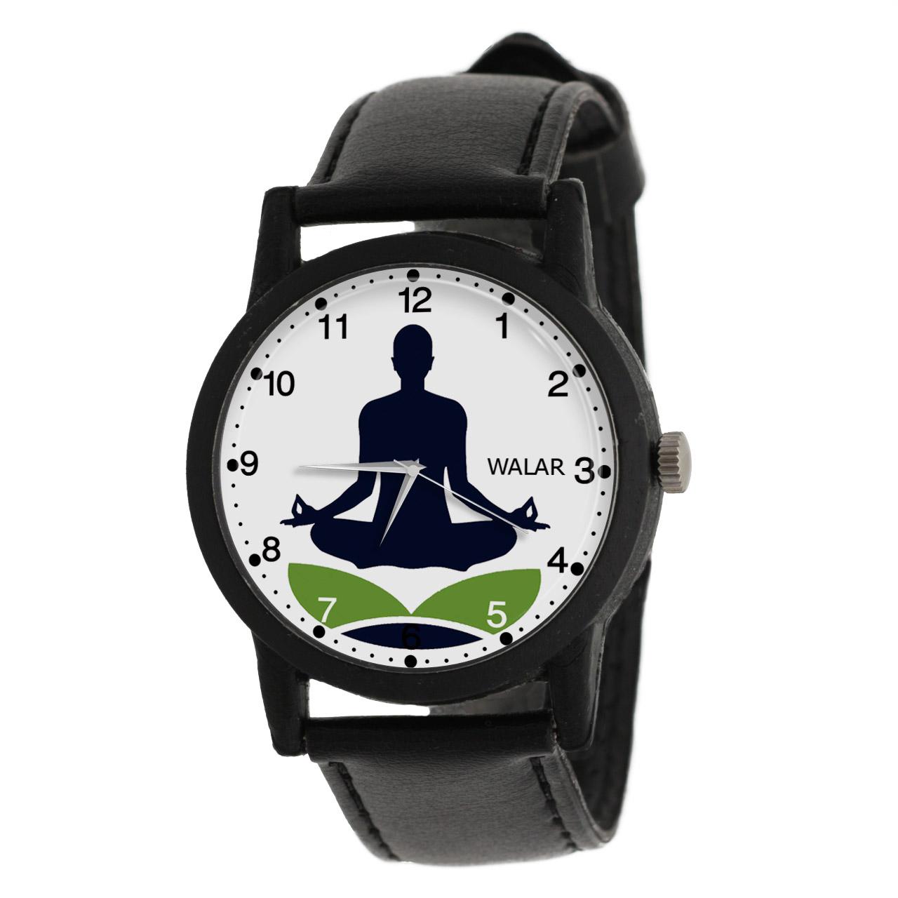 ساعت مچی عقربه ای زنانه و مردانه والار طرح یوگا کد LF2195