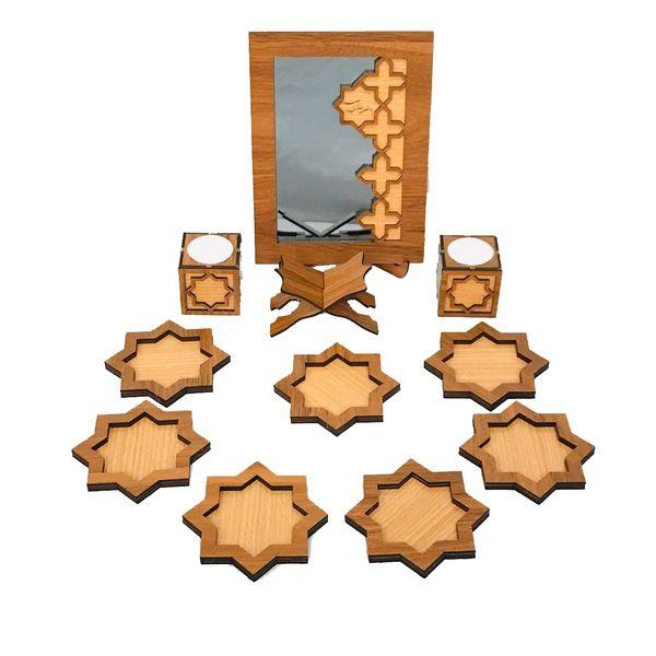 مجموعه ظروف هفت سین 14 پارچه مدل مینا