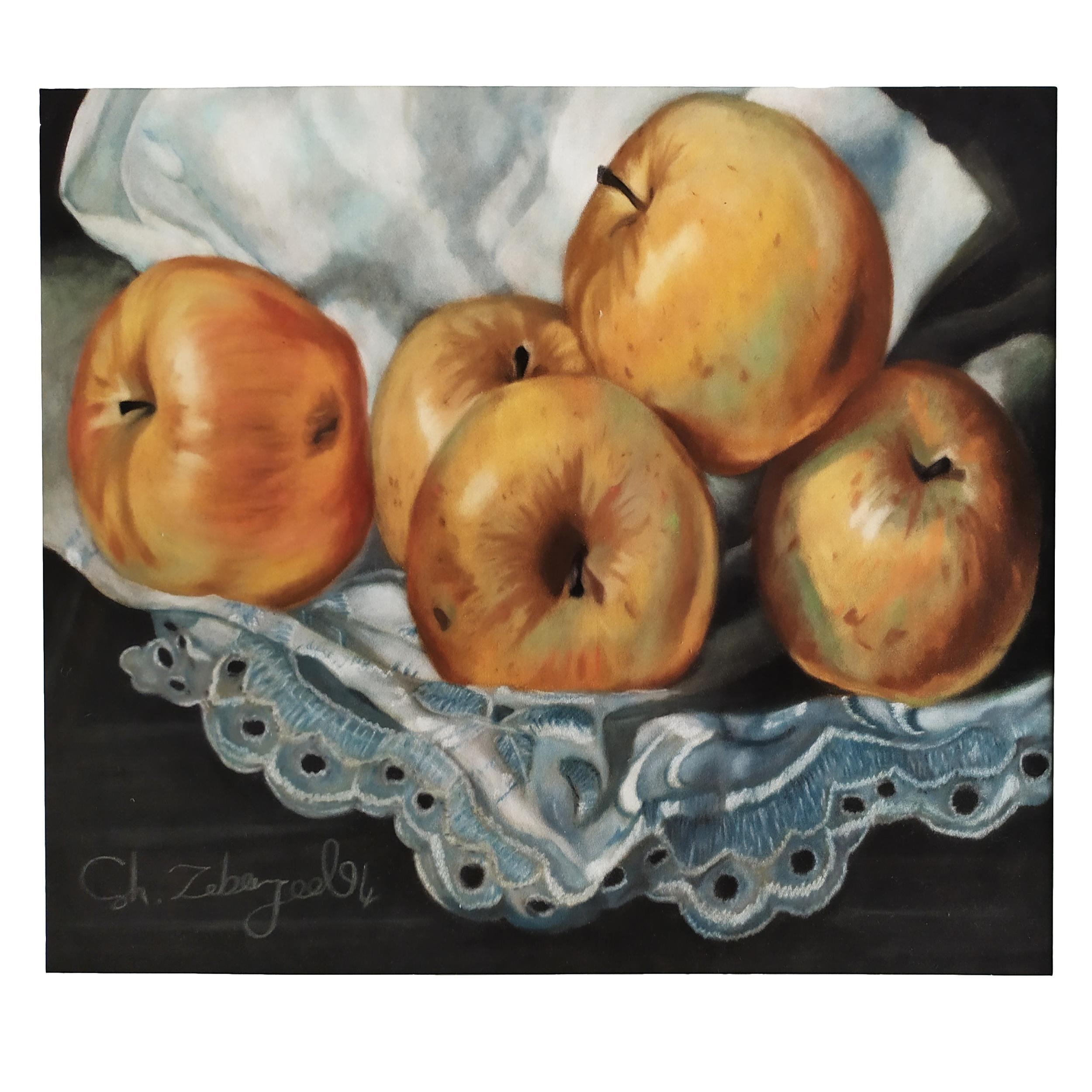 خرید                      تابلو نقاشی پاستل طرح سیب