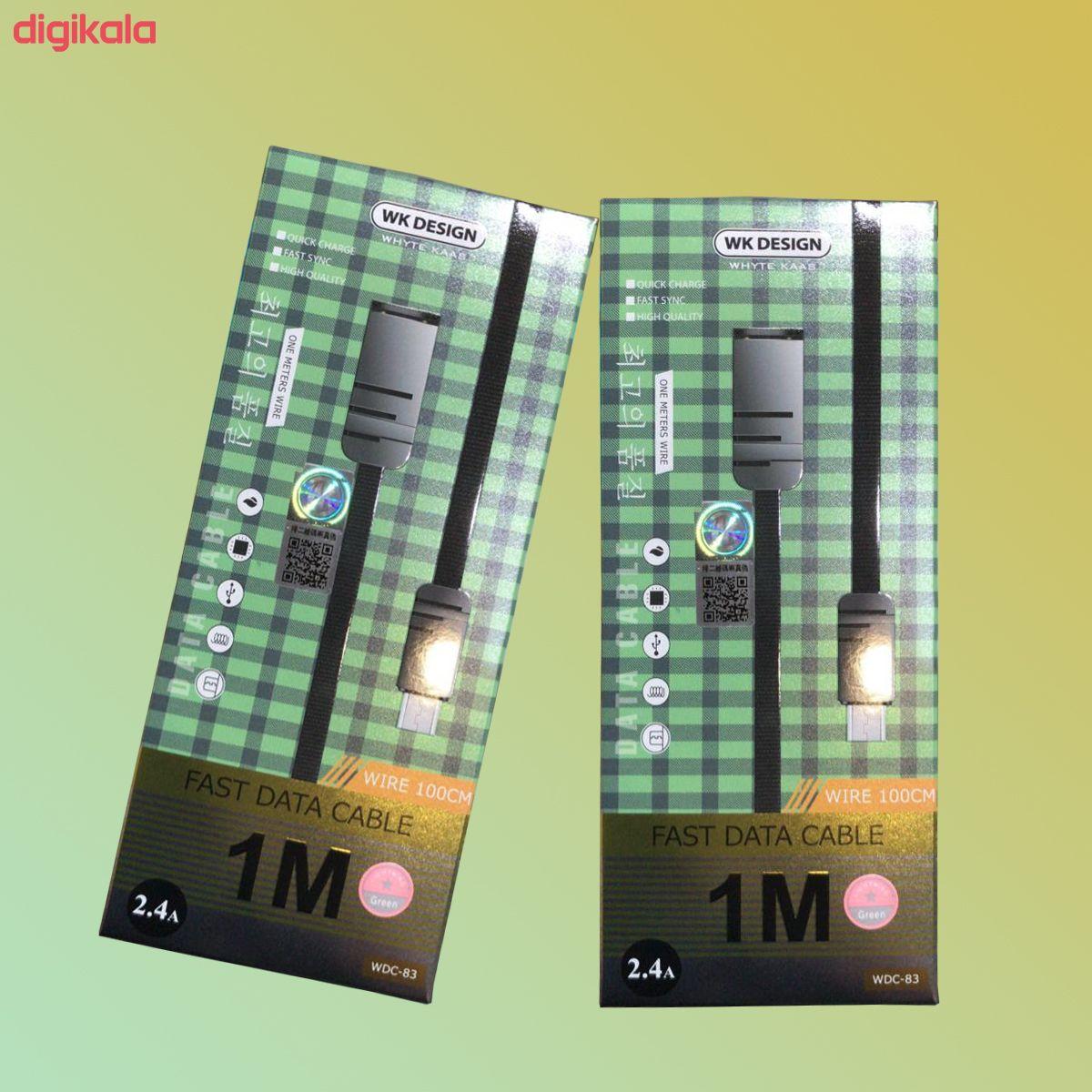 کابل تبدیل USB به USB-C دبلیو کی مدل WDC-83 طول 1 متر  main 1 2