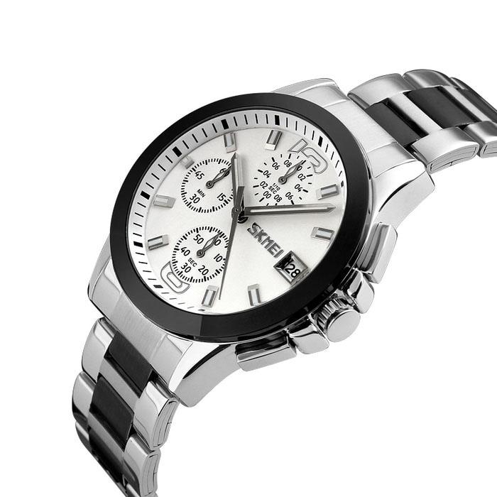 کد تخفیف                                      ساعت مچی عقربه ای مردانه اسکمی مدل 9126 کد 01