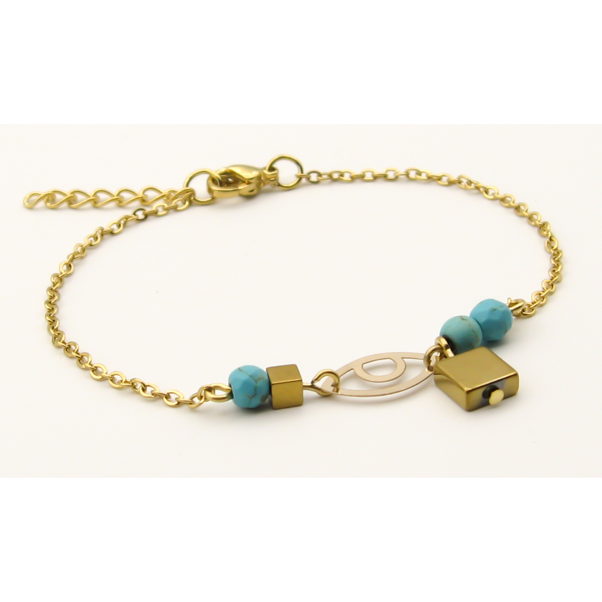 دستبند طلا 18 عیار زنانه مانچو کد bfg167