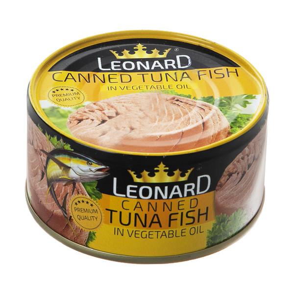 کنسرو ماهی تن در روغن گیاهی لئونارد - 180 گرم