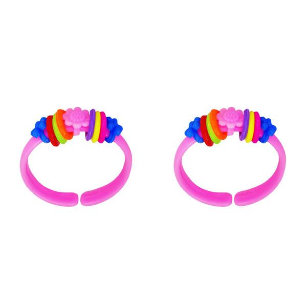 دستبند دخترانه مدل رنگین کمان بسته 2 عددی