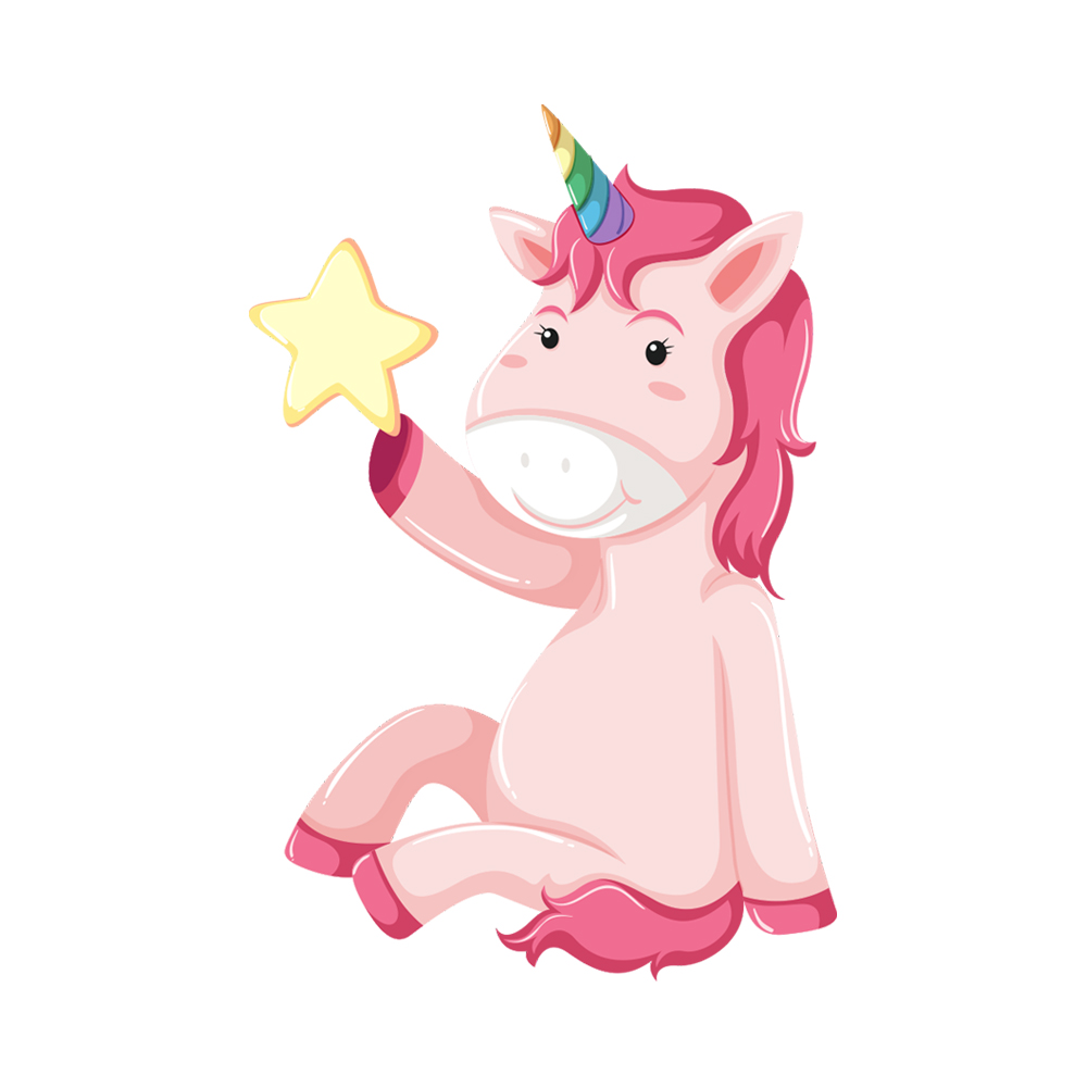 استیکر فراگراف FG طرح ستاره اسب تک شاخ کد 093