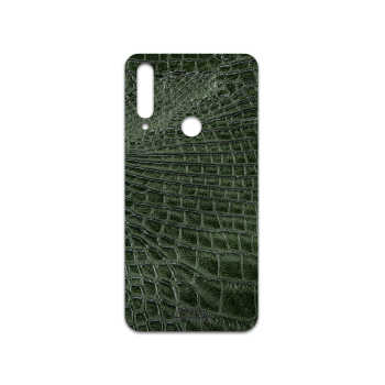 برچسب پوششی ماهوت مدل Green-Crocodile-Leather مناسب برای گوشی موبایل آنر 9X
