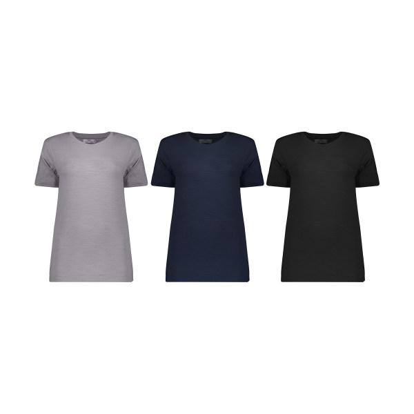تی شرت زنانه مون مدل 1631145ML بسته 3 عددی