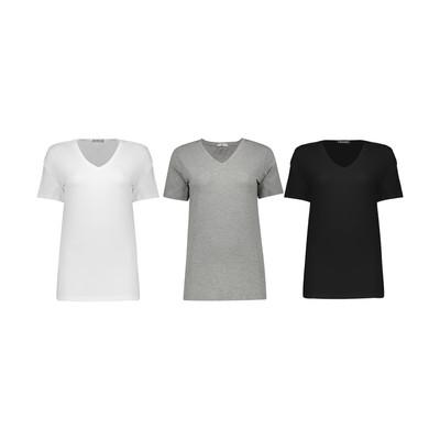 تی شرت زنانه مون مدل 1631149ML بسته 3 عددی