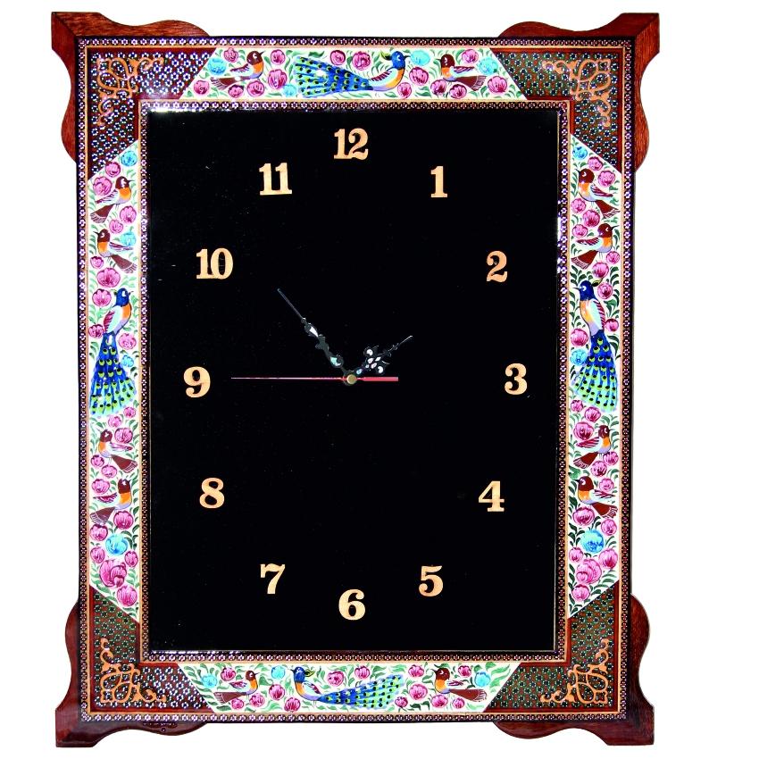 خرید                      ساعت دیواری مدل گل و پرنده کد M1008