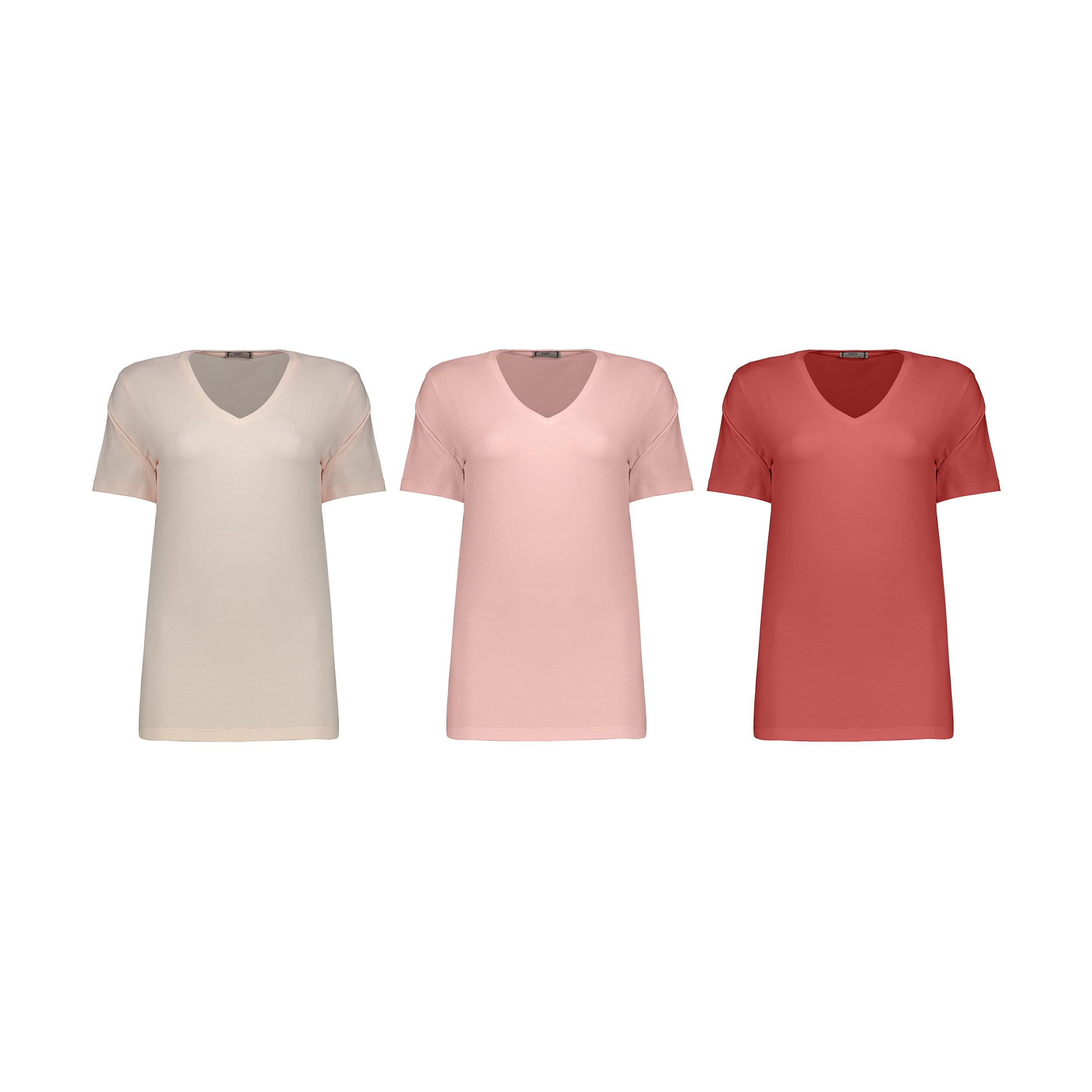 تصویر تی شرت زنانه مون مدل 1631150ML بسته 3 عددی