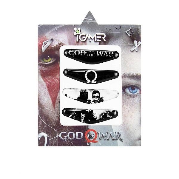 برچسب لایت بار دسته پلی استیشن ۴ ای گیمر طرح God of War