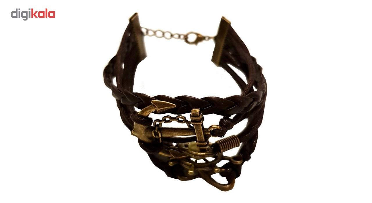دستبند چرمی الفین مدل el02022 سایز M