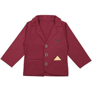 کت تک پسرانه مدل بانی نی مون کد 1146 رنگ زرشکی