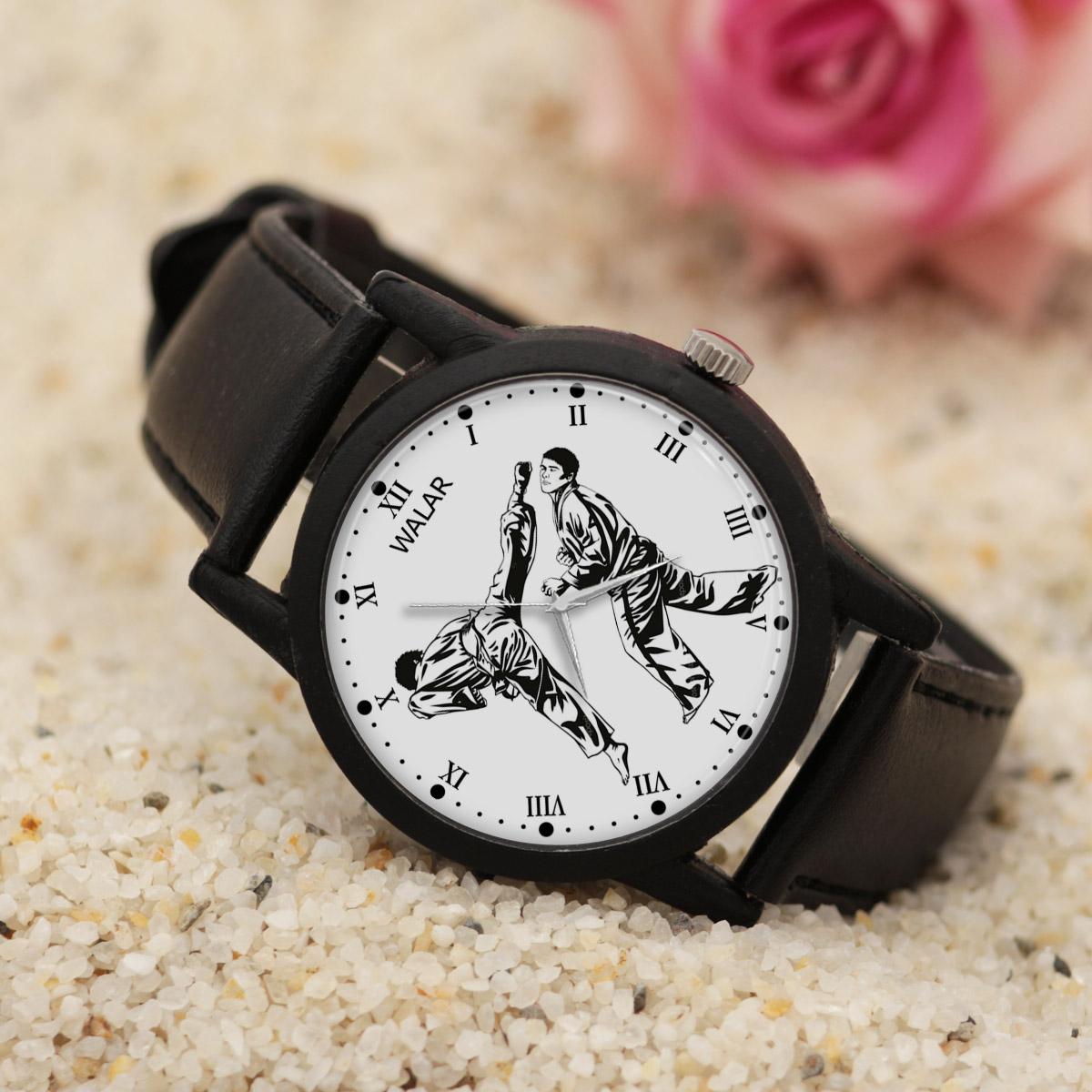 کد تخفیف                                      ساعت مچی عقربه ای مردانه والار طرح کاراته کد LF2202