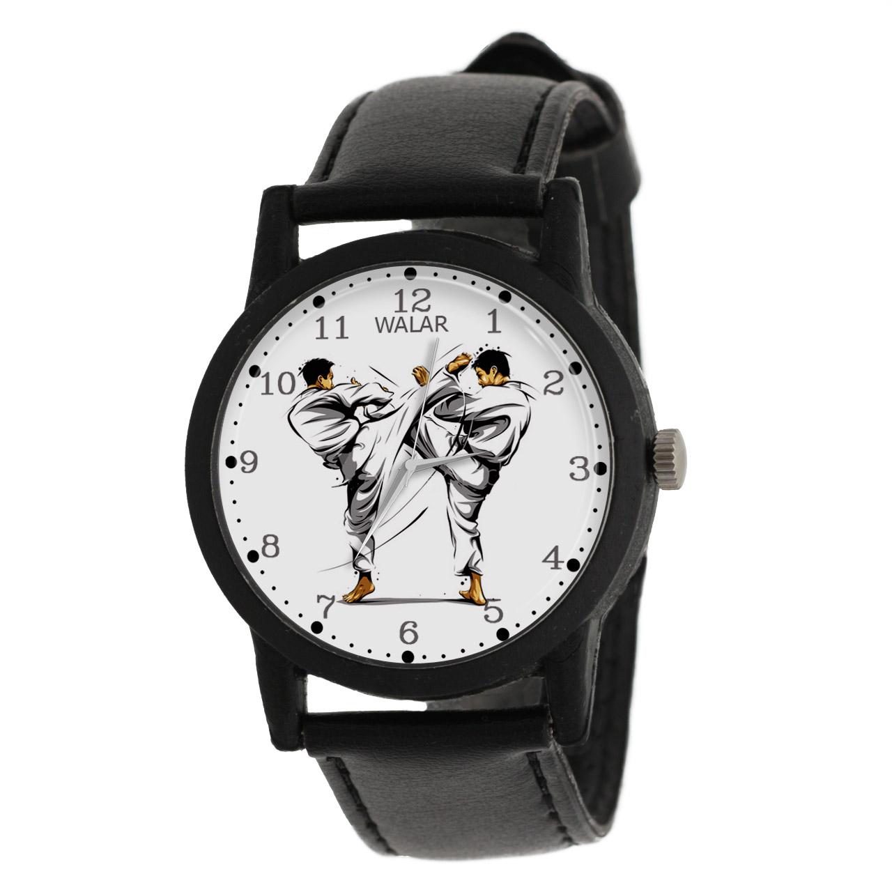 کد تخفیف                                      ساعت مچی عقربه ای مردانه والار طرح کاراته کد LF2203