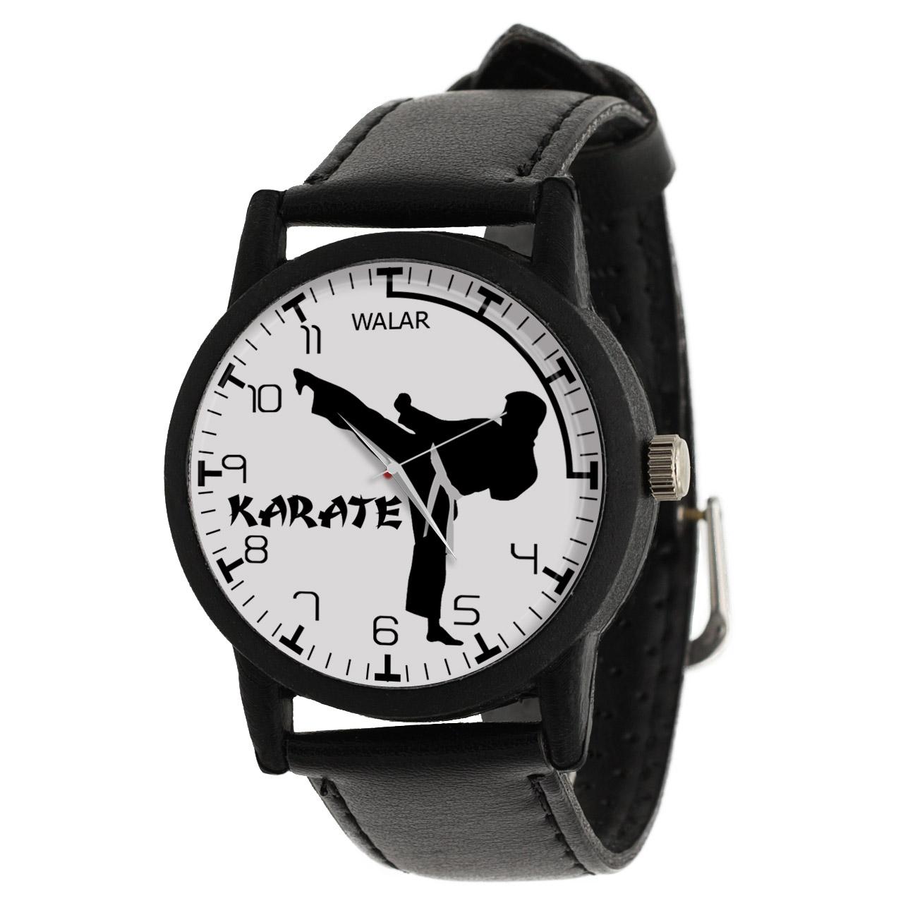 کد تخفیف                                      ساعت مچی عقربه ای مردانه والار طرح کاراته کد LF2205