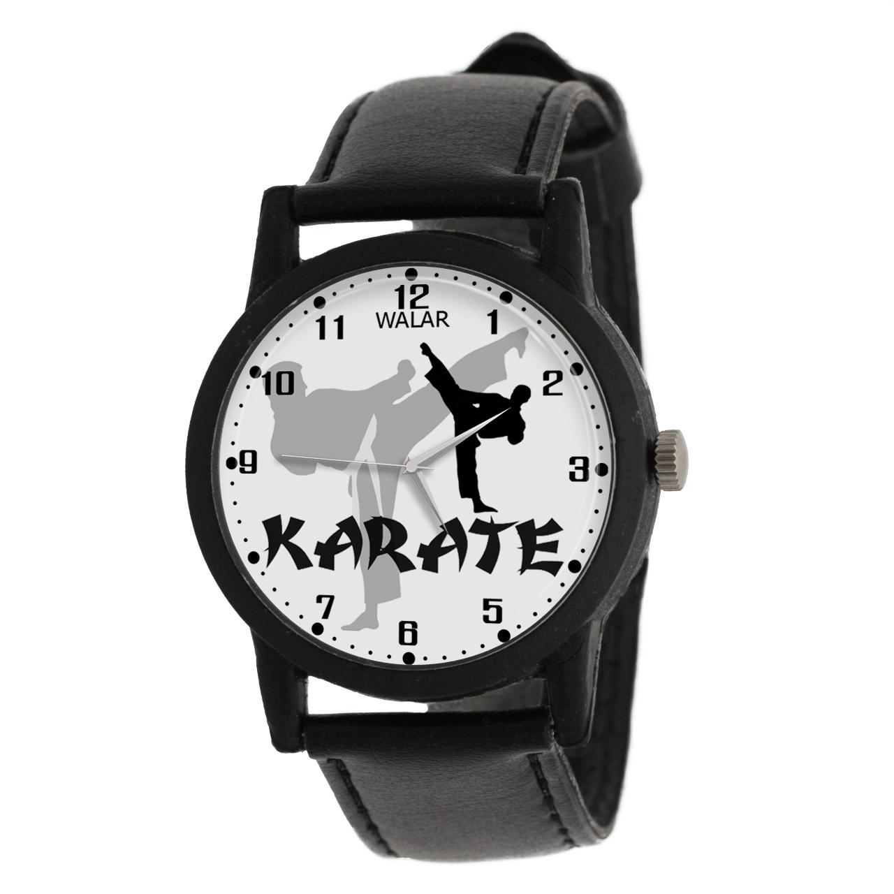 کد تخفیف                                      ساعت مچی عقربه ای مردانه والار طرح کاراته کد LF2206