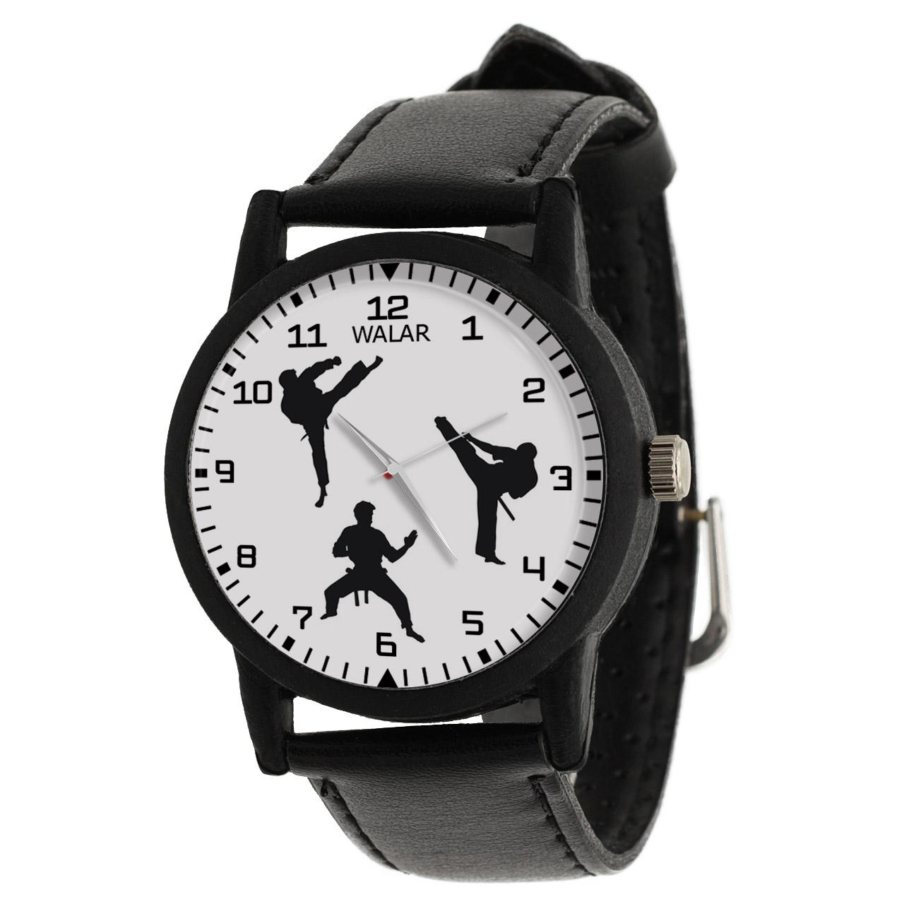 کد تخفیف                                      ساعت مچی عقربه ای والار طرح کاراته کد LF2208