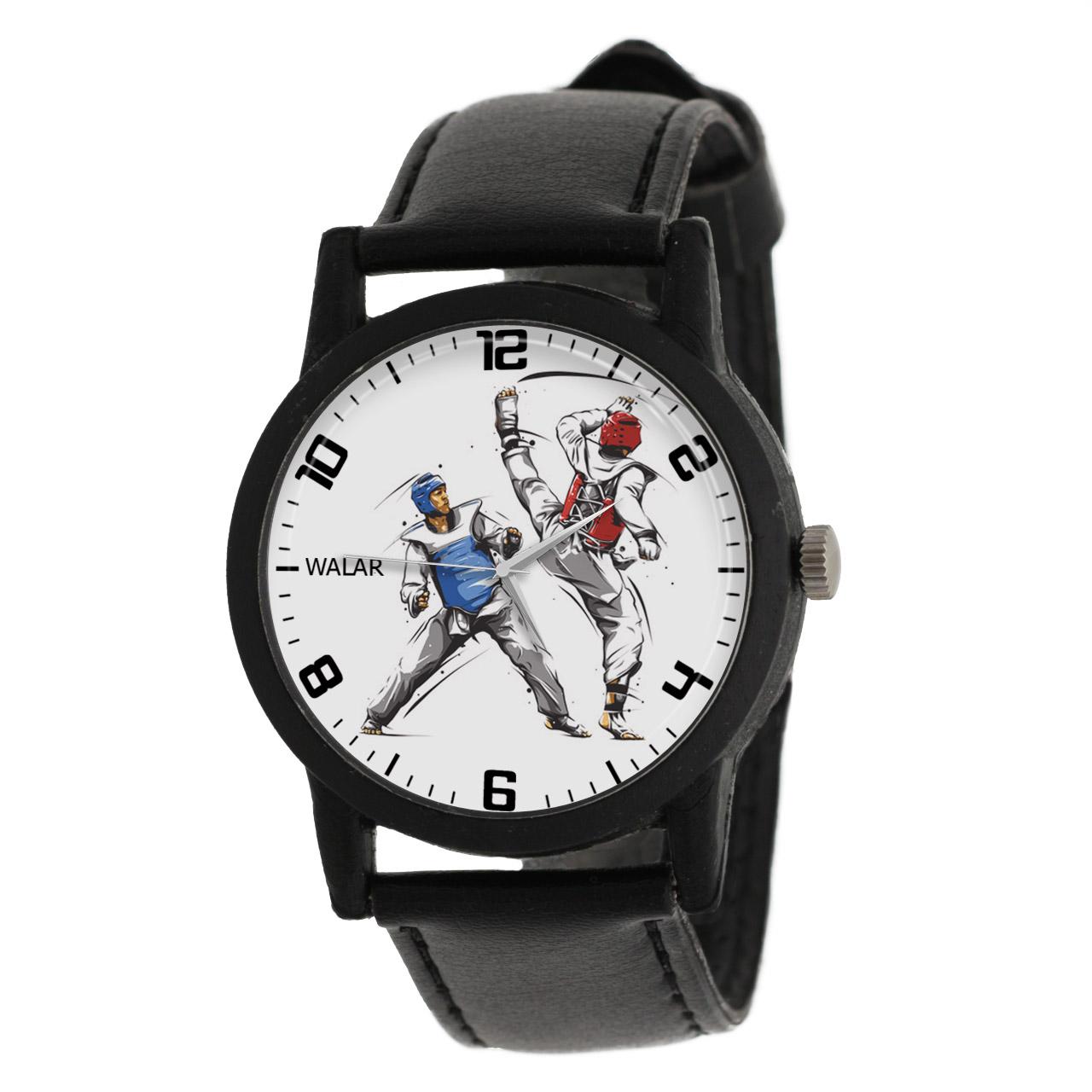 کد تخفیف                                      ساعت مچی عقربه ای والار طرح تکواندو کد LF2212