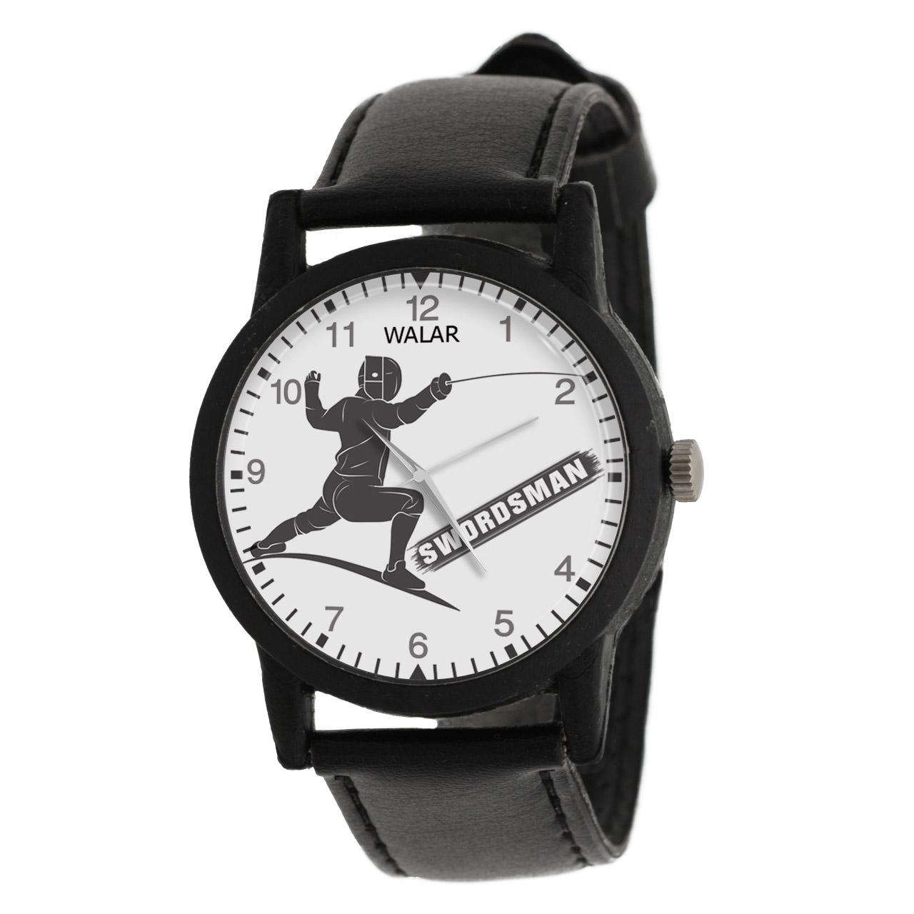 کد تخفیف                                      ساعت مچی عقربه ای والار طرح شمشیر بازی کد LF2215