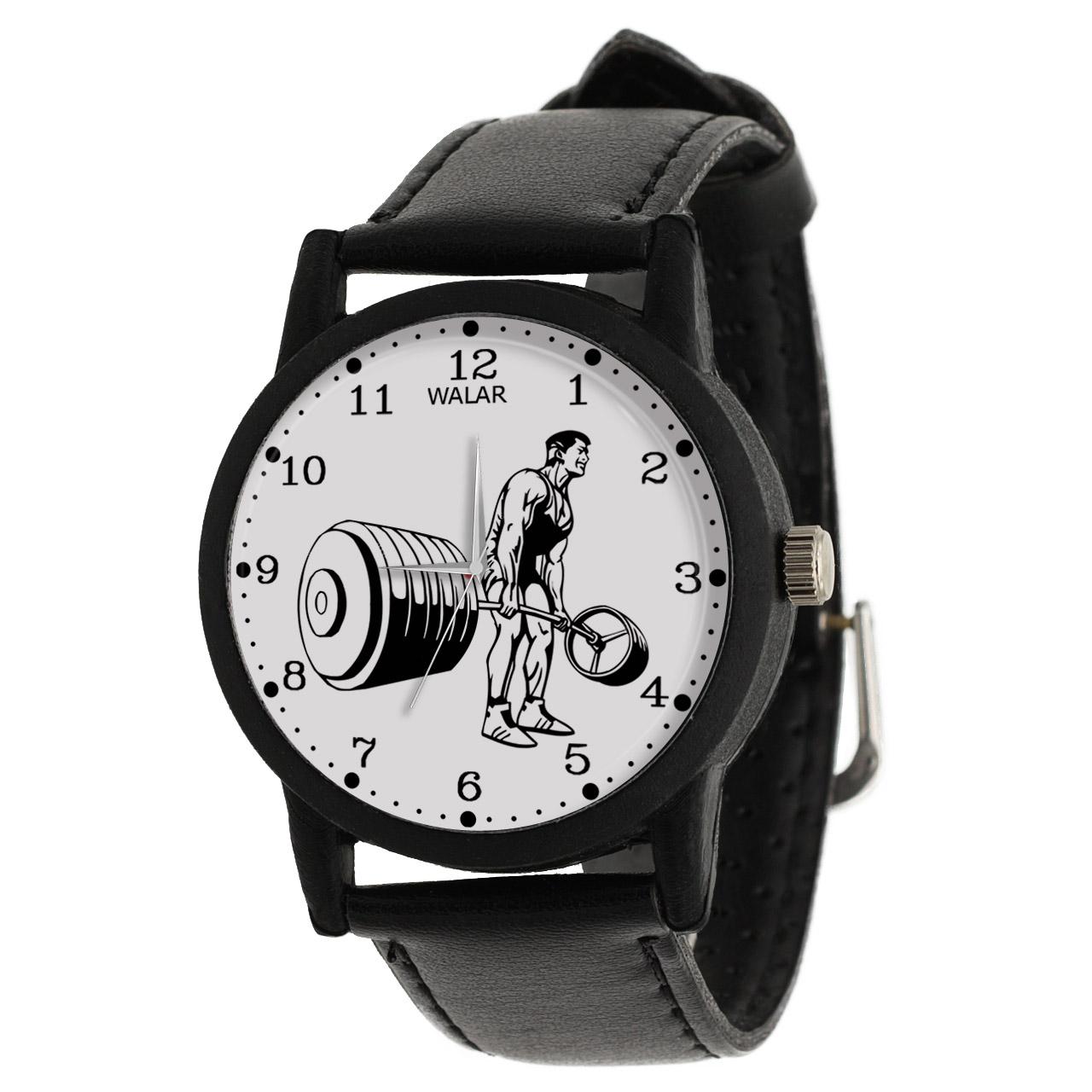 کد تخفیف                                      ساعت مچی عقربه ای مردانه والار طرح پاورلیفتینگ کد LF2222